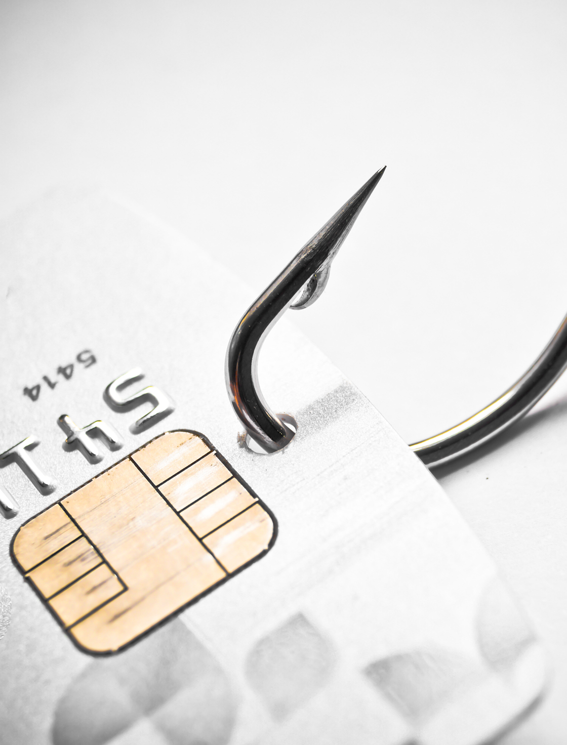 A credit card on a fishing hook